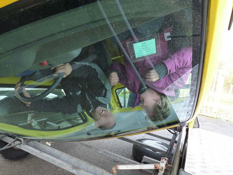 Dans cette position les ceintures de sécurité montrent leur efficacité